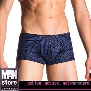 【M】サイズ メタリックベルベッド ボクサーパンツ ネイビー☆ドイツ製 MANSTORE(マンストア)☆M708 男性下着 ☆Micro Pants インクブルー|manifica