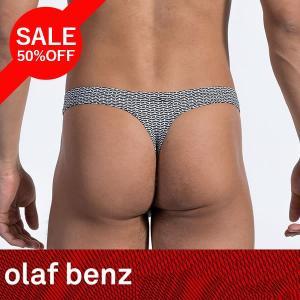 【SALE】【50%OFF】 【L】サイズ マイクロファイバー メンズストリング(Tバック)☆ドイツ製 OLAF BENZ(オラフベンツ)☆RED1525 ☆Ministring ブラック|manifica