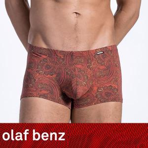 【L】サイズ ペイズリー メンズボクサーパンツ レッド☆ドイツ製 OLAF BENZ(オラフベンツ)☆RED1526 ☆Minipants Tango 赤|manifica