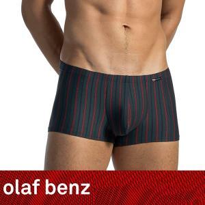 【M】サイズ ピンストライプ メンズボクサーパンツ ダークグレー☆ドイツ製 OLAF BENZ(オラフベンツ)☆RED1560 ☆Minipants|manifica