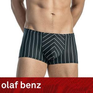 【M】サイズ ピンストライプ メンズボクサーパンツ ブラック☆ドイツ製 OLAF BENZ(オラフベンツ)☆RED1563 ☆Minipants 黒|manifica