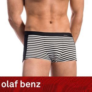 【M】サイズ ボーダー ボクサーパンツ ☆ドイツ製 OLAF BENZ(オラフベンツ)☆RED1577シリーズ☆MINIPANTS 男性下着(ブラック&ホワイト) manifica