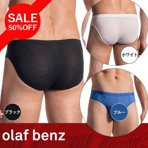 【M】サイズ モダールブリーフ(ブラック・ホワイト・ブルー)☆ドイツ製 OLAF BENZ(オラフベンツ)☆RED1665シリーズ☆Sportbrief メンズパンツ|manifica