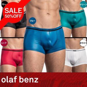 【M】サイズ サテン メンズボクサーパンツ(5色展開 白・黒・青・赤・緑)☆ドイツ製 OLAF BENZ(オラフベンツ)☆RED1675 ☆Minipants|manifica