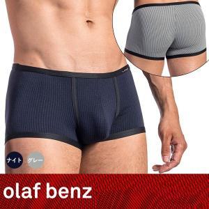 【S】【M】【L】サイズ メンズボクサーパンツ(ナイトブルー・グレーチェック)☆ドイツ製 OLAF BENZ(オラフベンツ)☆RED1673 ☆Minipants 男性下着|manifica