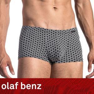 【M】サイズ ブラックリーフ メンズボクサーパンツ☆ドイツ製 OLAF BENZ(オラフベンツ)☆RED1667 ☆Minipants 男性下着 マイクロファイバーパンツ|manifica