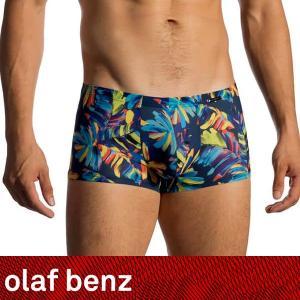 【S】【M】サイズ 極薄 パームリーフ ボクサーパンツ☆ドイツ製 OLAF BENZ(オラフベンツ)☆RED1769☆MINIPANTS 男性下着 カラフル|manifica