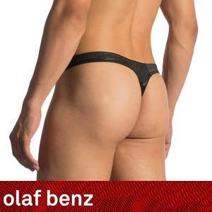 【M】【L】サイズ 玉虫色のメタリック メンズストリング(Tバック)☆ドイツ製 OLAF BENZ(オラフベンツ)☆RED1771☆Ministring 男性下着 ブラック|manifica