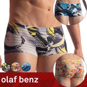 【S】【M】【L】【XL】サイズ 透けるボーダー ボクサーパンツ(ブルー・イエロー・オレンジ)☆ドイツ製 OLAF BENZ(オラフベンツ)☆RED1910☆男性下着|manifica
