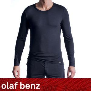 プレミアム 長袖コットンTシャツ【M】サイズ ☆ドイツ製 OLAF BENZ(オラフベンツ)☆プレミアム PEARL1300シリーズ☆ブラック コットンインナー|manifica