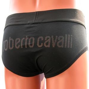 roberto cavalli  underwear(ロベルト カヴァリ)☆スパンコールロゴブラックブリーフ|manifica