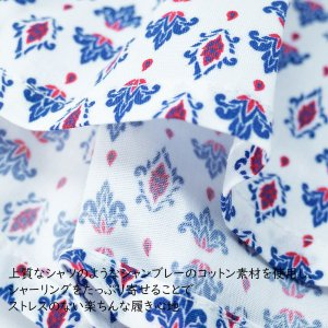 【M】サイズ ダマスク コットントランクス☆ベルギーブランド SIXTINE'S☆プレゼントにも。 ANTOINETTE  さらっと薄手の綿パンツ 男性下着 ホワイト manifica 05