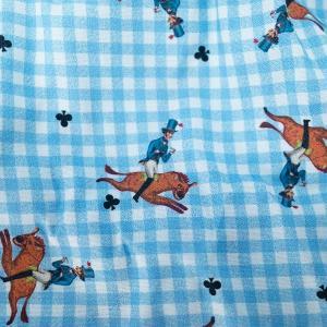 【S】【M】【L】サイズ 乗馬&チェック コットントランクス☆ベルギーブランド SIXTINE'S☆プレゼントにも AURELIA 薄手の綿パンツ 男性下着 ブルー|manifica|04