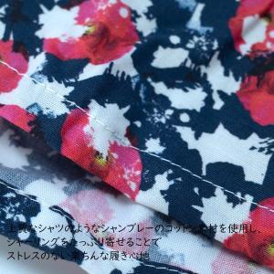 【S】【M】【L】サイズ 花柄 コットントランクス☆ベルギーブランド SIXTINE'S☆プレゼントにも COCO 薄手の綿パンツ 男性下着 ネイビーフラワー manifica 05