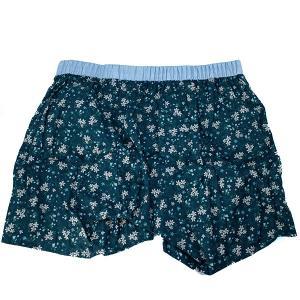 【M】サイズ 花柄 コットントランクス☆ベルギーブランド SIXTINE'S☆プレゼントにも。 GERALDINE  さらっと薄手の綿パンツ 男性下着 ネイビー|manifica|02