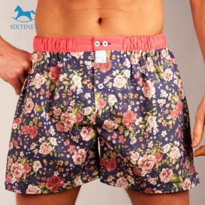 【M】サイズ コットン100% シャビーな花柄 トランクス☆ベルギー製 SIXTINE'S☆プレゼントにも。 GIULIA  さらっと薄手の フラワー綿パンツ 男性下着|manifica