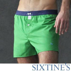 【M】サイズ コットン100% グリーンシャンブレー トランクス☆ベルギー製 SIXTINE'S☆ルームウェアやプレゼントにも。 JILL さらっと薄手のトランクス|manifica
