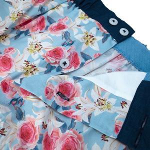 【S】【M】【L】サイズ 花柄 コットントランクス☆ベルギーブランド SIXTINE'S☆プレゼントにも。 LAURENCE  さらっと薄手の綿パンツ 男性下着 ブルー|manifica|03