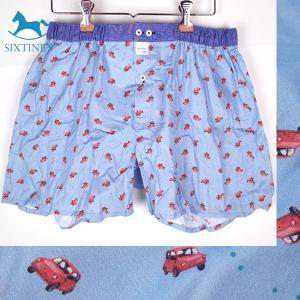 【M】サイズ コットン100% 赤い車 トランクス☆ベルギー製 SIXTINE'S☆ルームウェアやプレゼントにも。 MALOU  さらっと薄手の 綿パンツ 男性下着|manifica