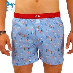 【S】【M】【L】サイズ 気球 コットントランクス☆ベルギーブランド SIXTINE'S☆プレゼントにも ORIANE 薄手の綿パンツ 男性下着 空にバルーン|manifica