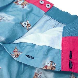 【S】【M】【L】サイズ 天使のコットントランクス☆ベルギーブランド SIXTINE'S☆プレゼントにも。 VIRGINIE  さらっと薄手の綿パンツ 男性下着 青空|manifica|03
