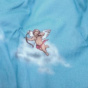 【S】【M】【L】サイズ 天使のコットントランクス☆ベルギーブランド SIXTINE'S☆プレゼントにも。 VIRGINIE  さらっと薄手の綿パンツ 男性下着 青空|manifica|04