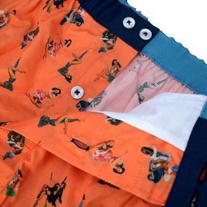 【M】サイズ フィフティーズ コットントランクス☆ベルギーブランド SIXTINE'S☆プレゼントにも。 YSA  さらっと薄手の綿パンツ 男性下着 オレンジ|manifica|03