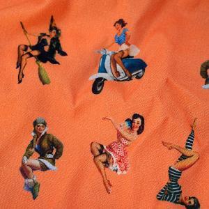 【M】サイズ フィフティーズ コットントランクス☆ベルギーブランド SIXTINE'S☆プレゼントにも。 YSA  さらっと薄手の綿パンツ 男性下着 オレンジ|manifica|04