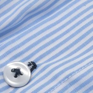 【M】サイズ コットン100%  ブルーストライプ トランクス☆ベルギー製 SIXTINE'S☆ルームウェアやプレゼントにも YSALINE さらっと薄手のトランクス manifica 04