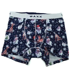 【M】サイズ  クリスマスボクサーパンツ☆フランスブランド☆WAXX(ワックス)☆SNOWMAN メンズボクサー |manifica