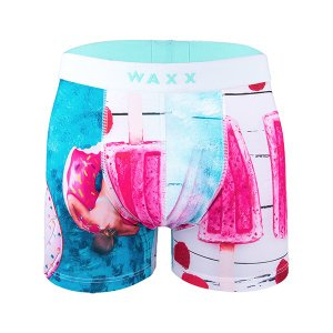 【S】【M】サイズ アイスキャンディー ボクサーパンツ☆フランスブランド☆WAXX(ワックス)アンダーウェア ☆CREAMY メンズパンツ 男性下着 プール|manifica