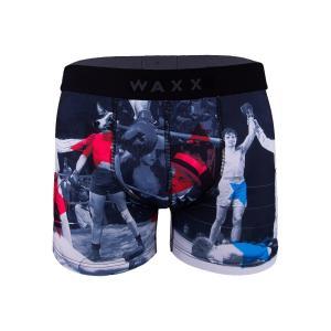 【S】【M】【L】サイズ 犬のキックボクサー ボクサーパンツ☆フランスブランド☆WAXX(ワックス)アンダーウェア ☆KICK メンズパンツ 男性下着 ブラック|manifica