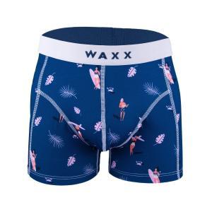 【M】サイズ サーフィン ボクサーパンツ☆フランスブランド☆WAXX(ワックス)アンダーウェア ☆SURFING メンズパンツ 男性下着 ネイビー|manifica