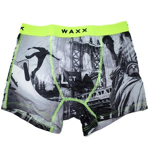 【M】サイズ ウォール街  ボクサーパンツ☆フランスブランド☆WAXX(ワックス)アンダーウェア ☆WALL STREET メンズボクサー 男性下着 manifica