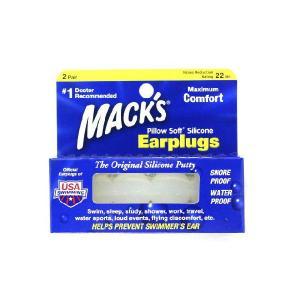 Mack's 耳栓 Pillow Soft Silicone Earplugs  (2ペア入り)5EP-Earplugs|manmandougakki