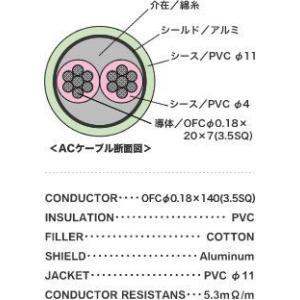 Ex-pro ACケーブル ACC-2 長さ2m manmandougakki 02