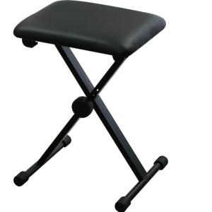 キクタニ キーボードベンチ ピアノイス X型 KB-60 ブラック manmandougakki