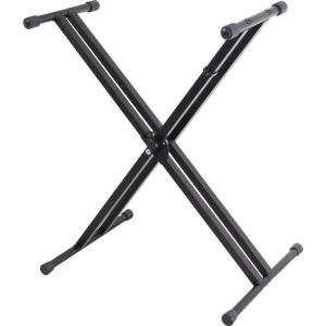 KC 組み立て式 X字型キーボードスタンドKBS-D-BK manmandougakki