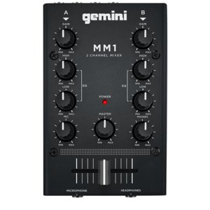 GEMINI DJ ミキサー ポータブル 2ch ステレオミキサー MM1|manmandougakki