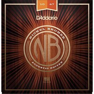 D'Addario ダダリオ アコースティックギター弦 ニッケルブロンズ Extra Light .010-.047 NB1047 【国内正規品】|manmandougakki