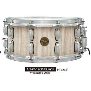 バ ーン ボ ード ス ネ ア Gretsch Drums  S1-6514SSBBWH グレッチ|manmandougakki