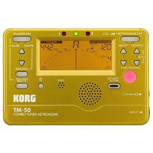 KORG チューナー/メトロノーム TM-50 GD ゴールド|manmandougakki