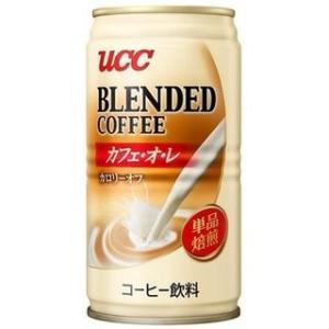 UCC ブレンドコーヒー カフェ・オ・レ カロリーオフ (185g缶×30本入)|manmaru-store