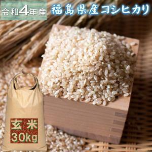 30kg コシヒカリ 玄米 お米 30年産 福島県産 送料無料 『30年福島県産コシヒカリ玄米30kg』|manmayarice