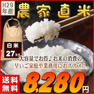 米 27kg 新米 お米 白米 安い 29年産 訳あり ブレ...