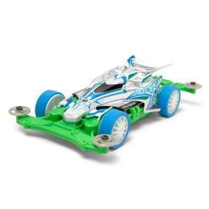 (ホワイト&グリーンのポップなカラーリングが注目)  高性能な走りでレースも楽しい四輪駆動レーサーの...