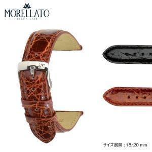 時計 ベルト 腕時計ベルト バンド  クロコダイル ワニ革 MORELLATO モレラート AMADEUS アマデウス エクストラロング 寸長 k0518052 18mm 20mm|mano-a-mano