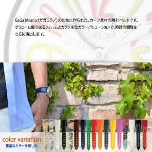 時計 ベルト 時計ベルト ガガミラノ用 カーフ 牛革 CASSIS カシス TYPE GGM タイプジージーエム u1003329 20mm 24mm mano-a-mano 06