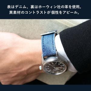 時計 ベルト 時計ベルト デニム CASSIS カシス NAPA ナパ  u1030600 20mm 22mm 24mm|mano-a-mano|04