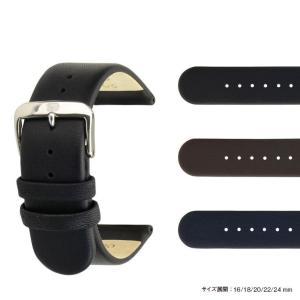 時計 ベルト 腕時計ベルト カーフ 牛革 U1280 16mm 18mm 20mm 22mm 24mm 時計 バンド 時計バンド 替えベルト 替えバンド ベルト 交換|mano-a-mano